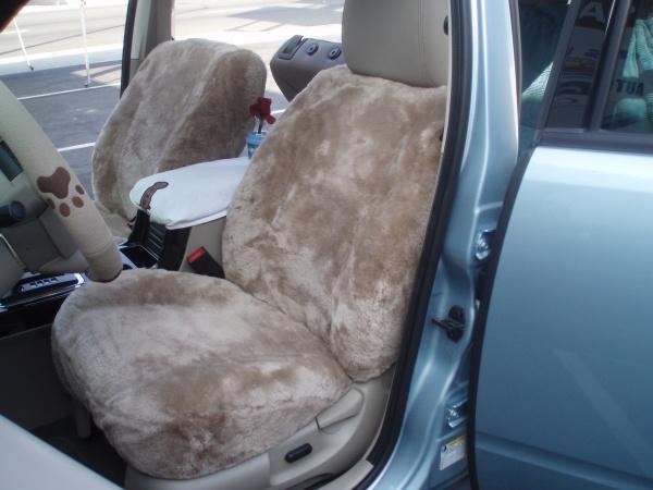 Sheepskin Front Bucket Seat Covers Semi Custom