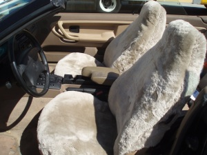 Mikes Canvas Sheepskin Seat Covers